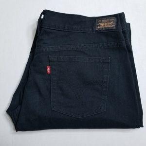 Levis 505 Straight Leg Black Jeans Size 12 Long